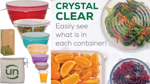 You can cover just about any container with these silicone lids.