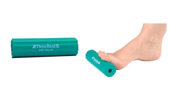 This roller helps ease soreness in the feet.