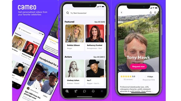 Get a message from a celeb with Cameo.