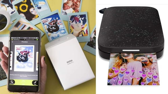 Video chat with your friends and reminisce about your favorite memories while you build a mini scrapbook or collage with a portable, bluetooth printer.