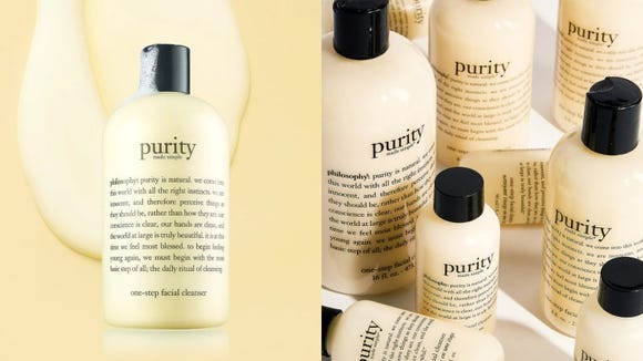 Clean your skin well with the Philosophy Purity Made Simple One-Step Facial Cleanser.