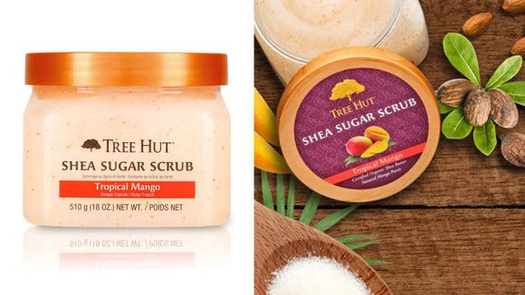 Keep the Tree Hut Shea Sugar Scrub in your shower to exfoliate your body.