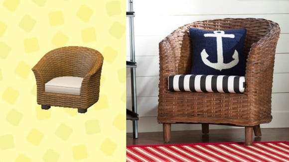 A pair of these rattan chairs would be perfect for your patio.