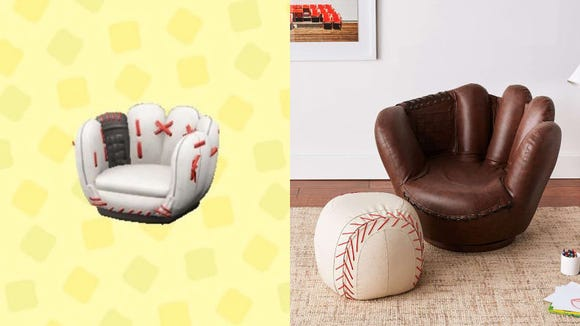 Apparently they still make baseball mitt chairs. Who knew?