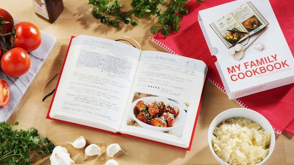 Keeping track of family recipes is a lot easier with this book.