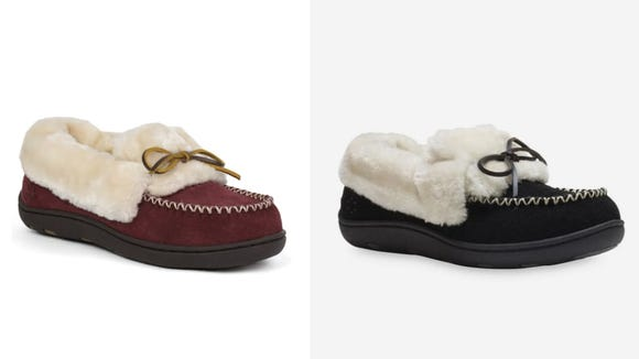 These fuzzy slippers also provide support to help keep your back healthy