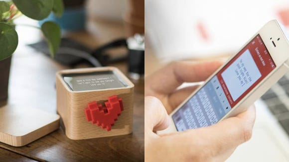 This adorable box lets you send digital messages to loved ones.