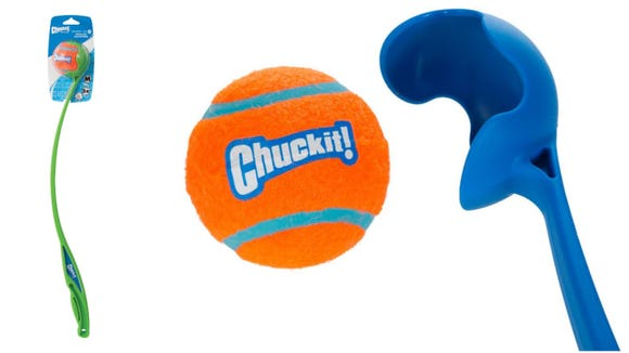You can throw tennis balls farther with this ball launcher.