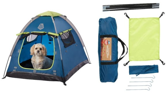 Your dog can cool off in the shade of this compact tent.