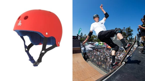 Make like Tony Hawk and protect your head with this helmet.