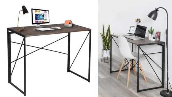 This computer desk doesn't require any assembly.