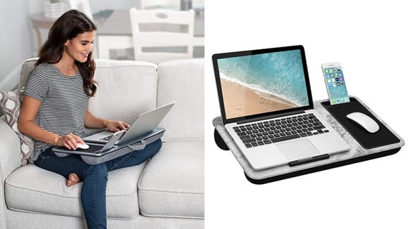 Prop your laptop up comfortably.