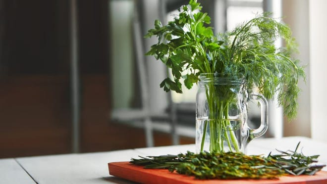 """Growing herbs is one part of the Texas A&M AgriLife Extension Service's """"Beautiful, Edible Earth-Kind Landscapes"""" garden series."""