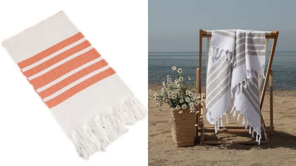 The Company Store's Turkish towel feels great on the skin.