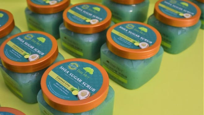 This sugar scrub is ideal for exfoliating your body.