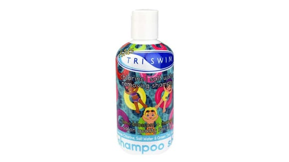 Leave kids' hair clean and soft with the TriSwim Kids Chlorine Removal Shampoo.
