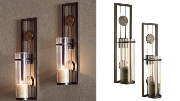 These beautiful sconces are striking without taking over the room