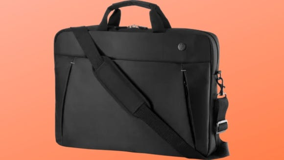 This messenger bag is sleek and professional.