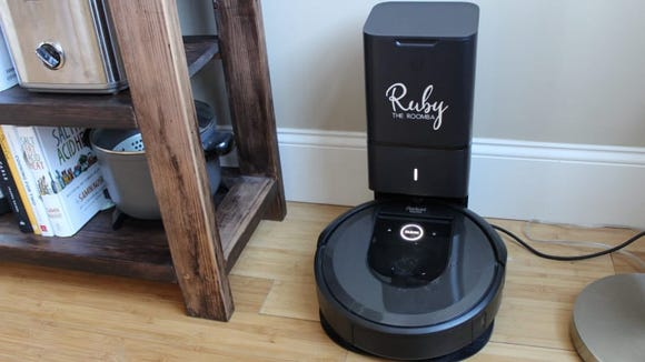 This is Ruby the Roomba. Mine is named Riley the Roomba. They're friends.