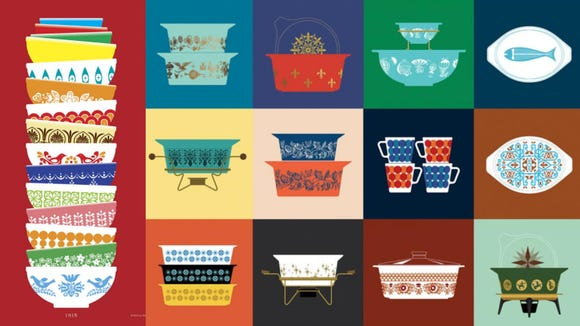 I am OBSESSED with the Vintage Pyrex line at Pocono Modern.
