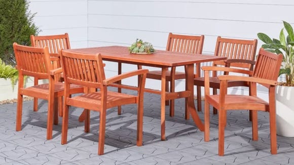 You can't go wrong with an all-wood dining set.