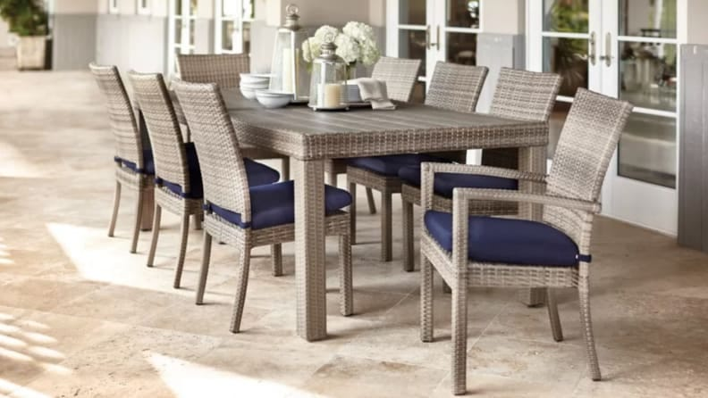 Patio Sets You Need For Dining Outdoors, Nine Piece Dining Room Table Set