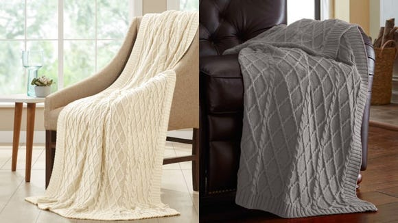 Make your sofa more welcoming with this pretty blanket.