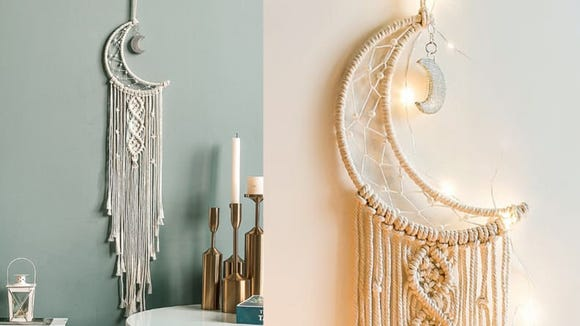 This macrame hanging has distinctly boho vibes.