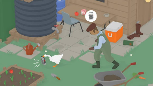 Untitled Goose Game is a hilariously honking adventure where you can do no harm... because you are an innocent goose, who just so happens to be where all the mischief happens.