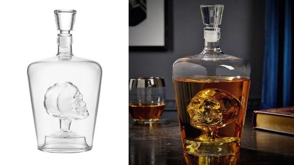 This decanter is just as spooky with or without liquid.