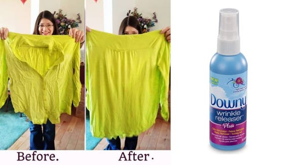 Best products for lazy people: Downy Wrinkle Releaser.
