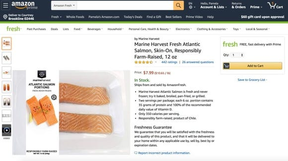 You can order seafood and more through Amazon.