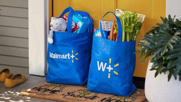 Walmart+ offers free shipping on groceries and more.