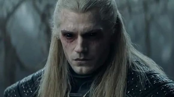 Henry Cavill in The Witcher on Netflix.