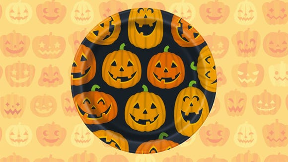 Why have paper plates when you can have pumpkin plates?