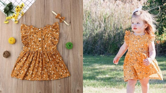Floral fall lace will turn your little girl into a holiday fairy.