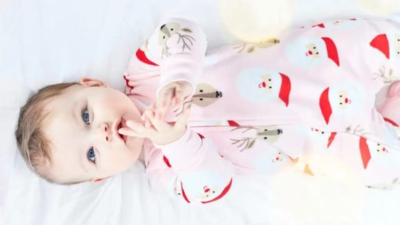 Your baby will blush red like a reindeer's nose in this sleep and play.