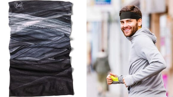 Prevent sweat from dripping into your eyes with a headband.