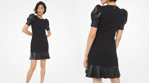 An edgy update to the classic, black dress.