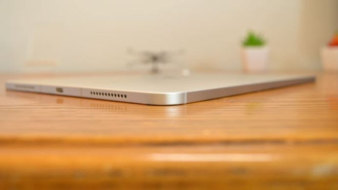In testing, we were impressed with how slim the newest Apple iPad Air was.
