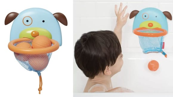 With a fun game to play, there's a better chance little ones will be willing to stay in the tub long enough to actually rinse their hair.