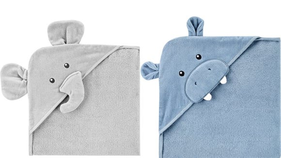 These hooded towels will look adorable in baby pictures.