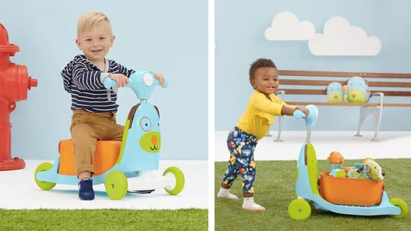 Any on-the-go baby will love this adaptable scooter.