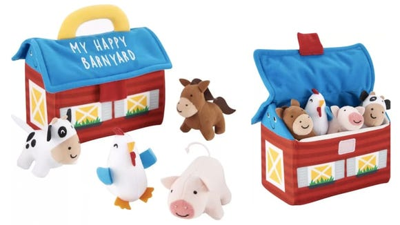 Teach little ones that the cow goes moo without any abrasive electronic sounds.