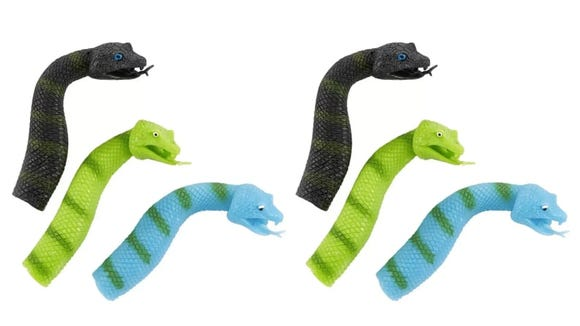 These friendly snakes are just the right size to fill out a stocking.