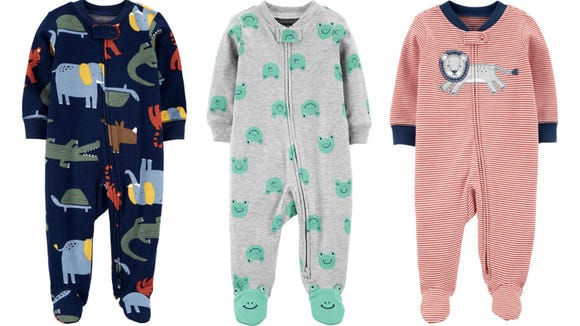 These onesies with two-way zippers make diaper changes quick and easy.