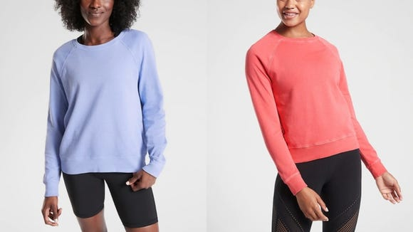 Multiple reviewers say they own several of these comfy sweatshirts.