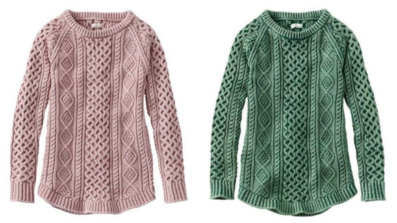 A classic cable knit sweater is a must-have for your wardrobe.