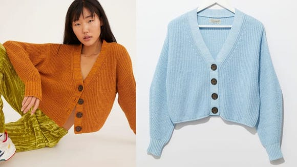 How precious are the oversized buttons on this cardigan?