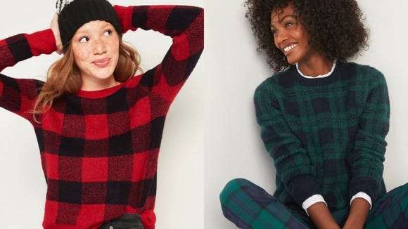 Choose from three pretty plaid patterns.